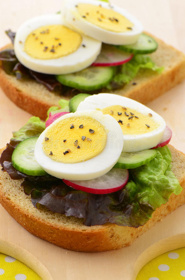 Download Egg Slices On Whole Wheat Bread Stock Photo - Image: 38115246