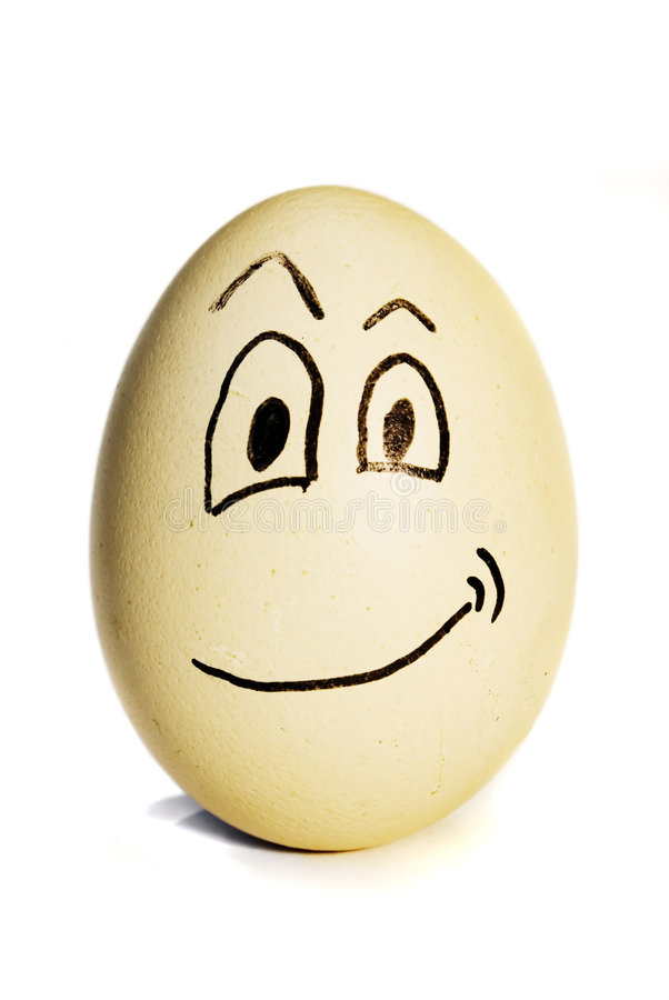 Egg with a smile royalty free stock photography