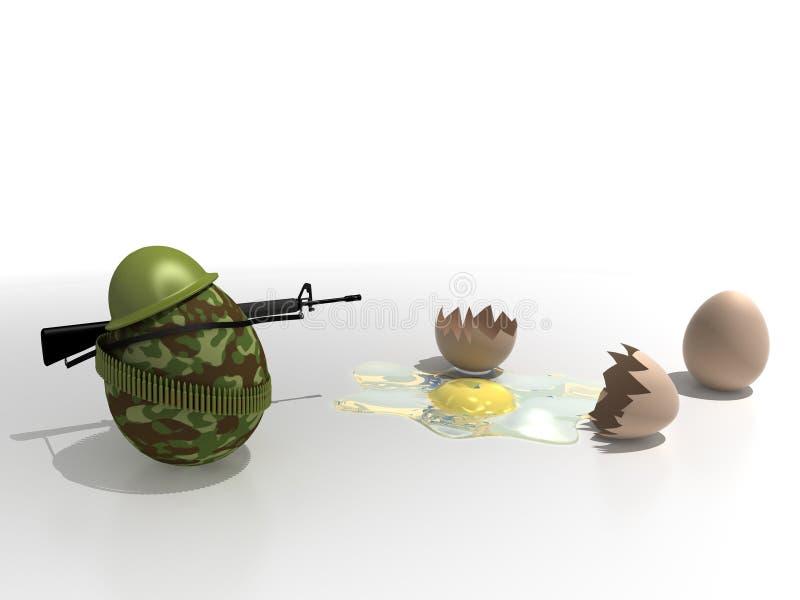 Egg_soldier illustration libre de droits