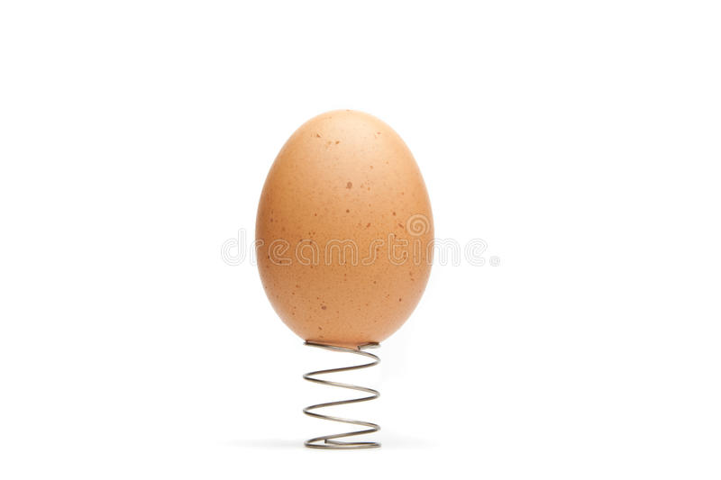 Egg on a Spring royalty free stock photo