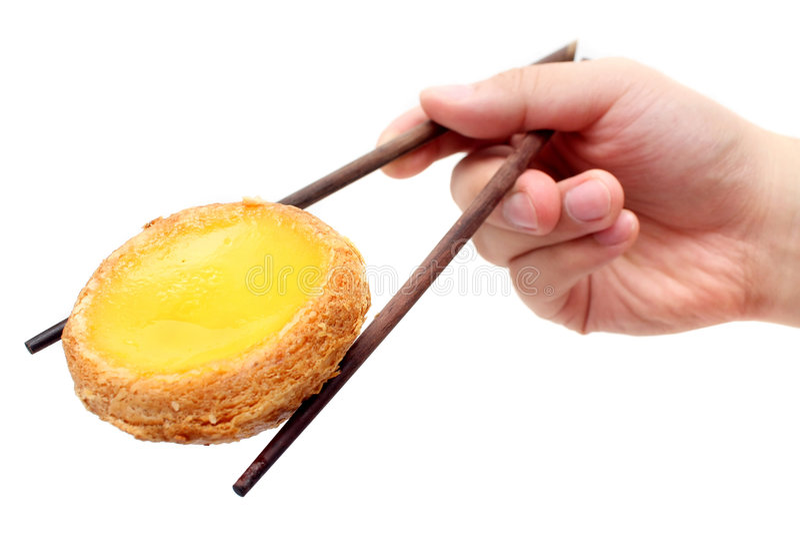 Download Egg Tart On Chopstick Stock Image - Image: 5655061