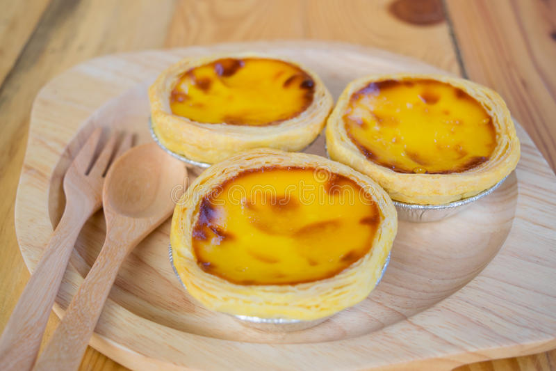 Egg tart stock image
