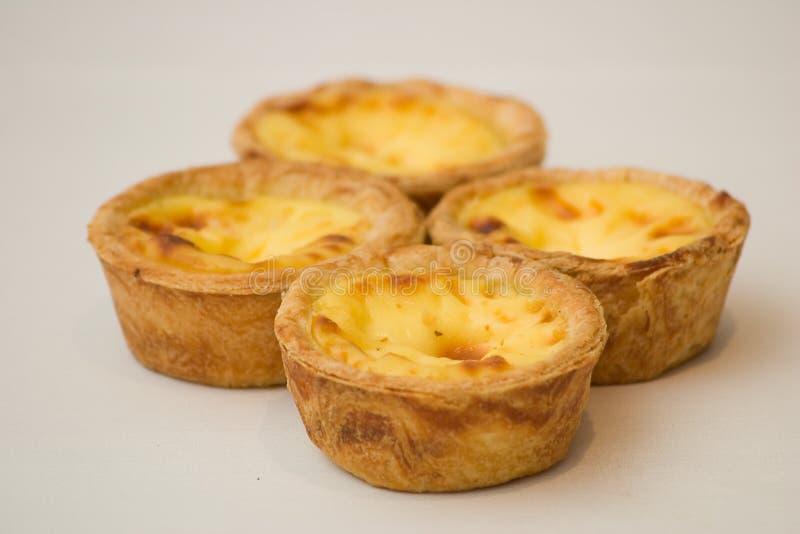 Egg Tarts. Portugese egg tarts royalty free stock images