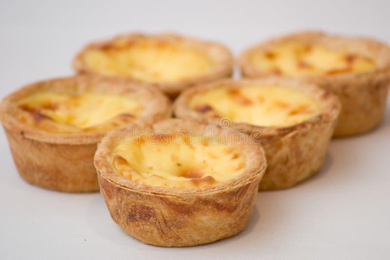 Egg Tarts. Portugese egg tarts stock image