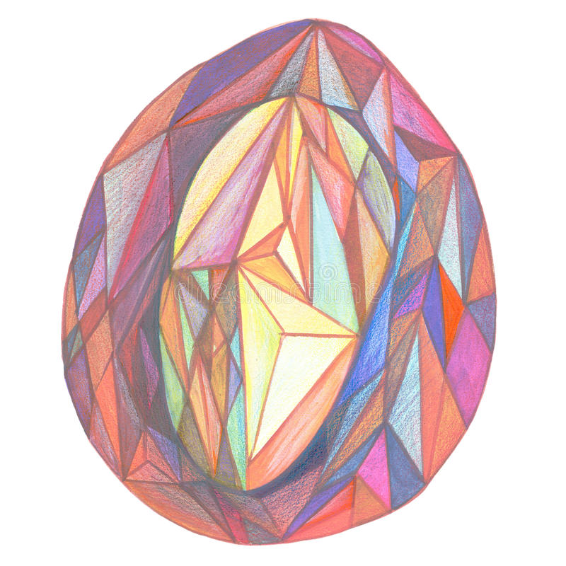 The egg of triangles stock photography