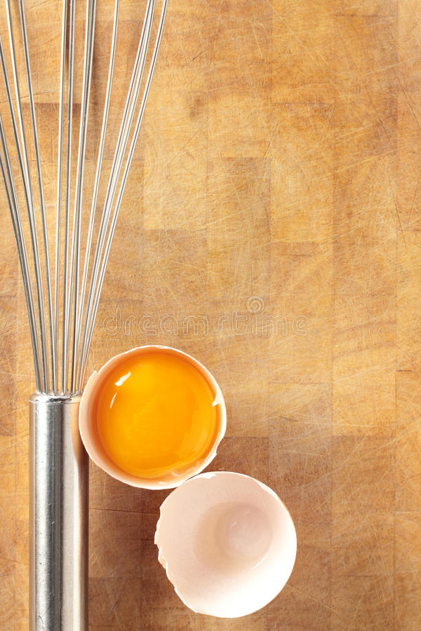 Egg And Whisk. Stock Image