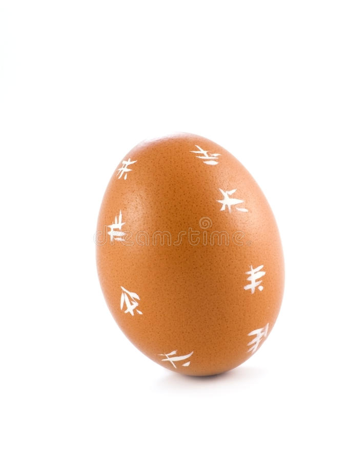Download Egg with white symbols stock photo. Image of painted - 21877878