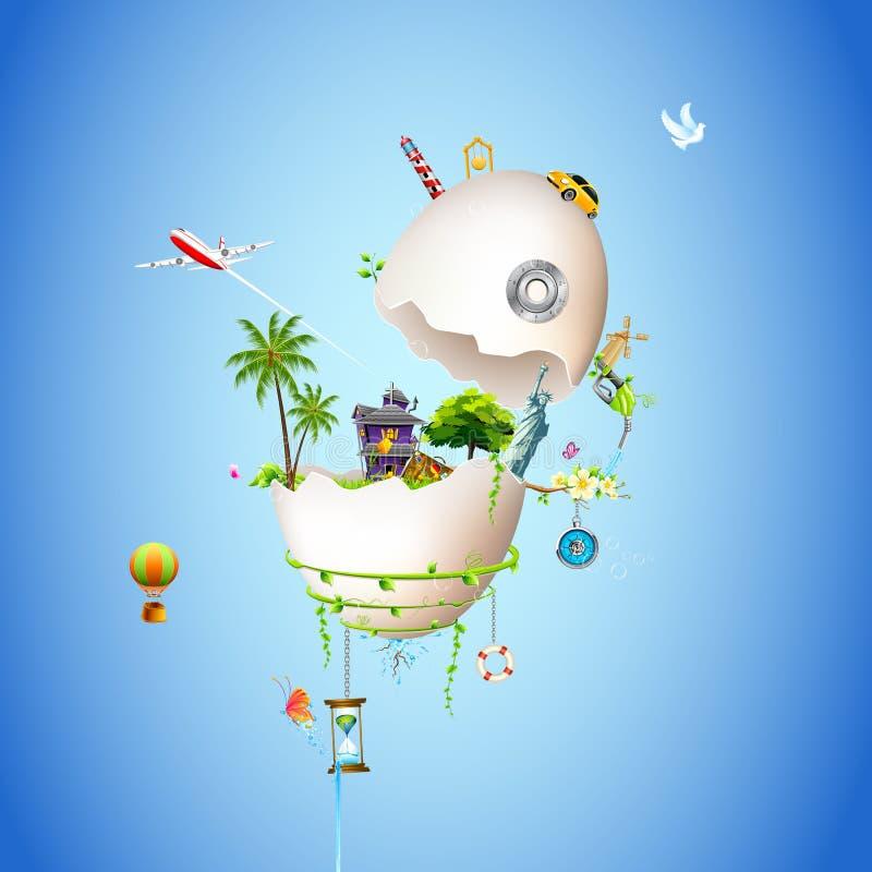 Egg World stock illustration