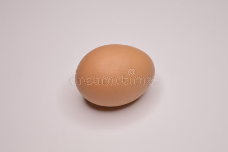 Egg yellow chicken chicken on a white background shell royalty free stock images
