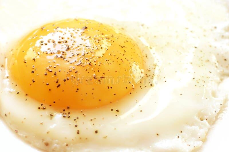 Egg yolk with black pepper royalty free stock photos