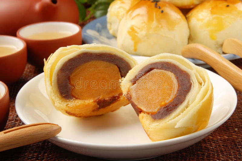 Egg yolk cakes. Taiwan delicious dessert - Egg yolk shortcake royalty free stock images