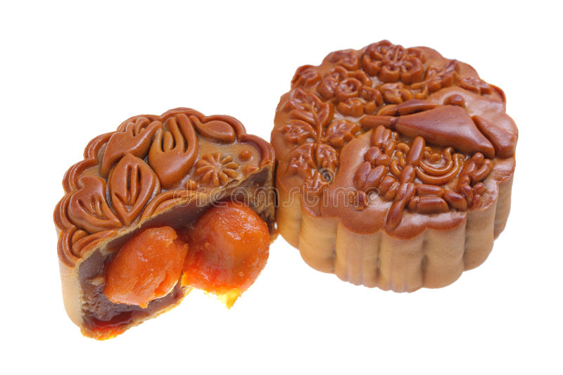 Egg Yolk Mooncake royalty free stock photos
