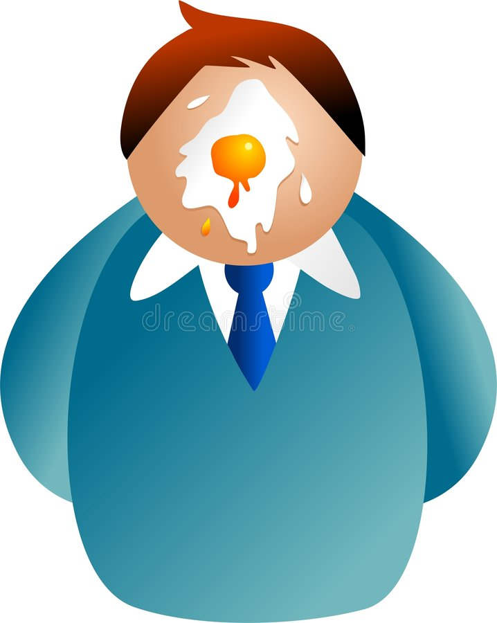 Download Egg on your face stock illustration. Illustration of company - 3189383