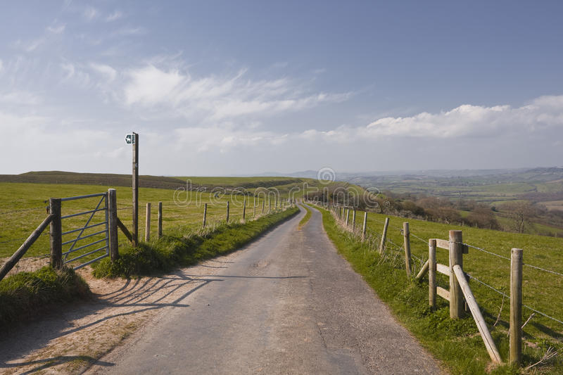 Download Eggardon Hill stock photo. Image of west, fence, scene - 25576160