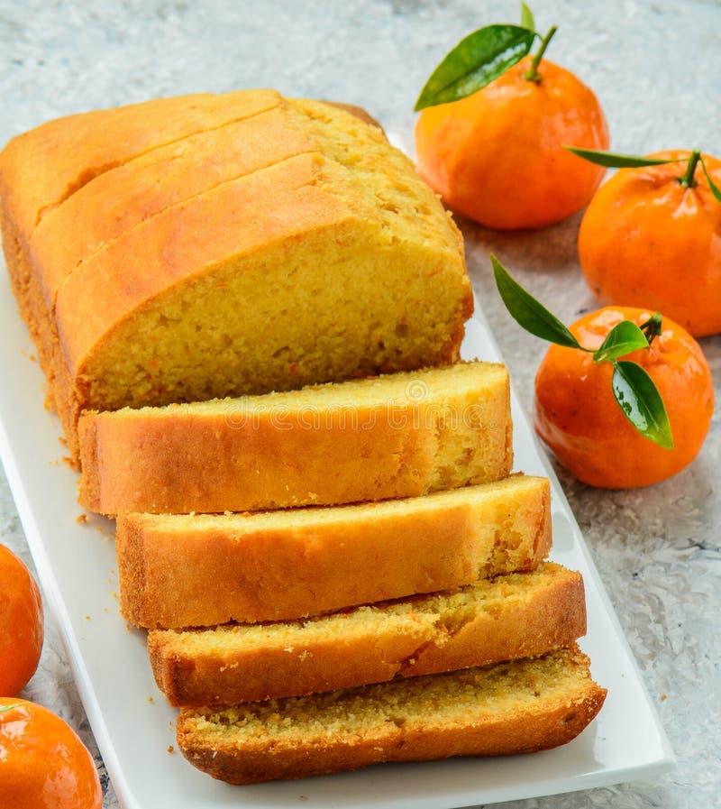 Eggless оранжевый торт стоковая фотография