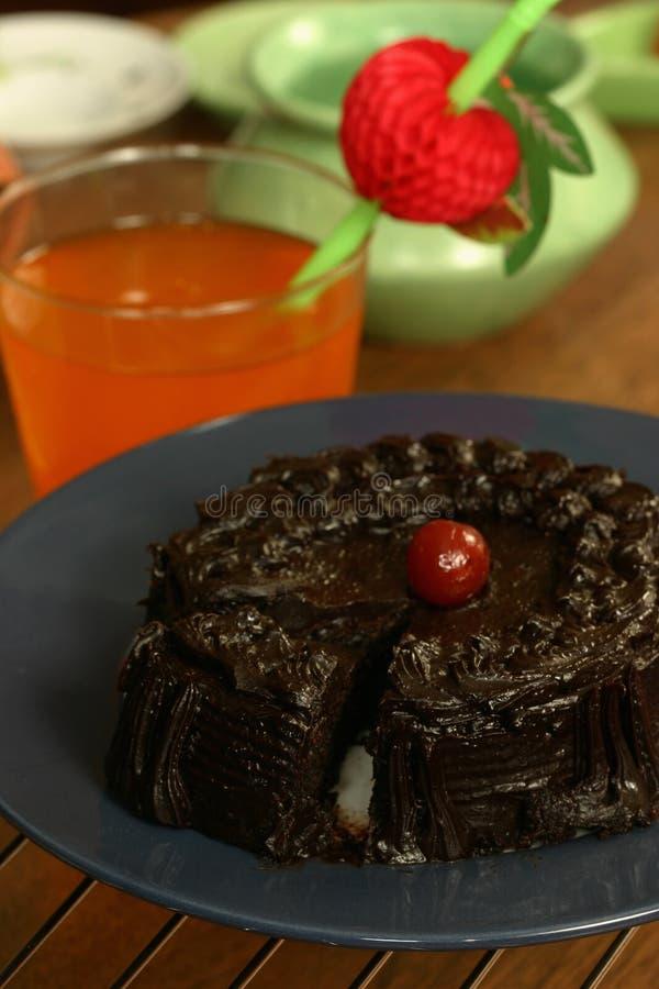 Eggless шоколадный торт стоковая фотография