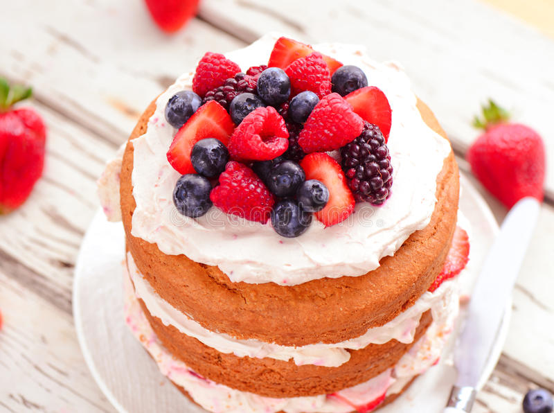 Eggless cake stock photos