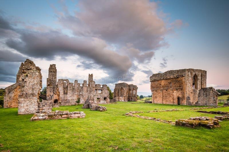 Egglestone Abbey Ruins stock image