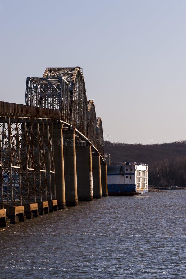 Eggner`s Ferry Bridge Collapse - Kentucky Lake, Kentucky stock image