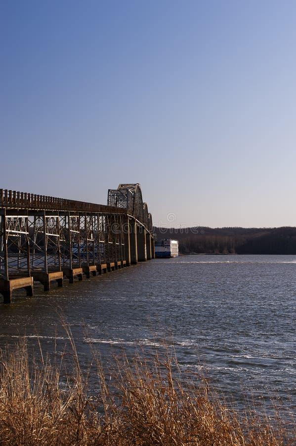 Eggner`s Ferry Bridge Collapse - Kentucky Lake, Kentucky stock images
