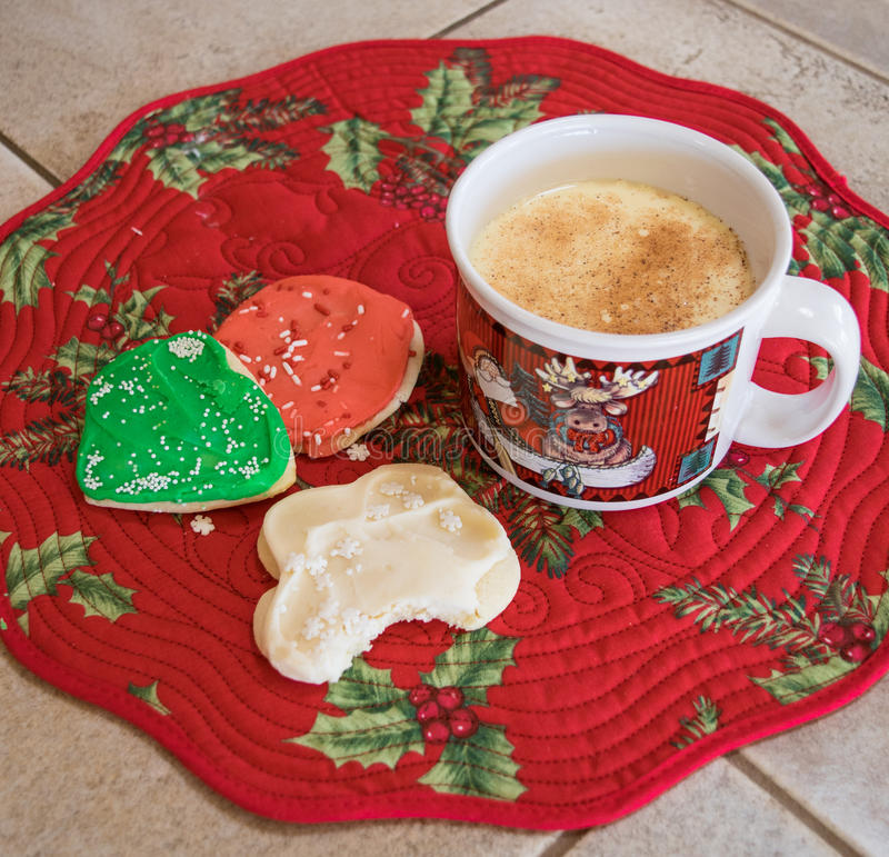 Download Eggnog And Christmas Cookies Stock Photo - Image: 83717660