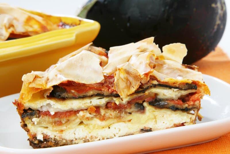 Eggpalnt pie stock photo