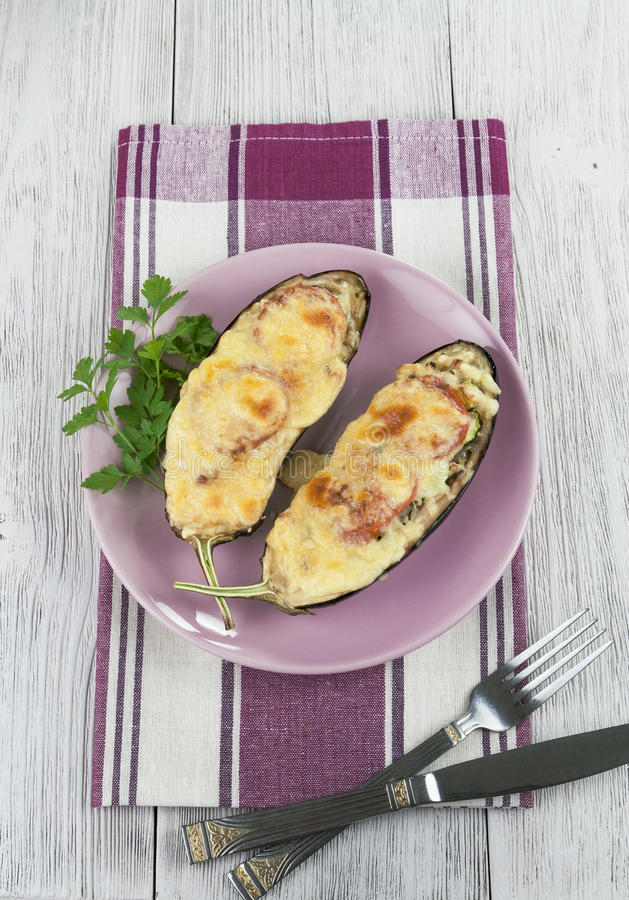 Download Eggplant Baked With Vegetables And Cheese Stock Image - Image of dinner, steamed: 33194767