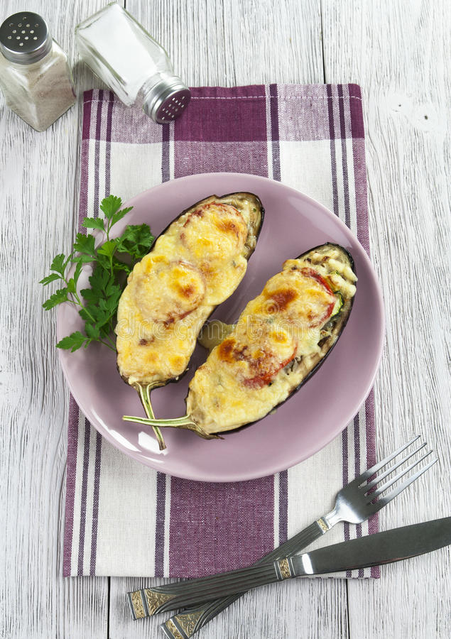 Download Eggplant Baked With Vegetables And Cheese Stock Photo - Image: 33194960