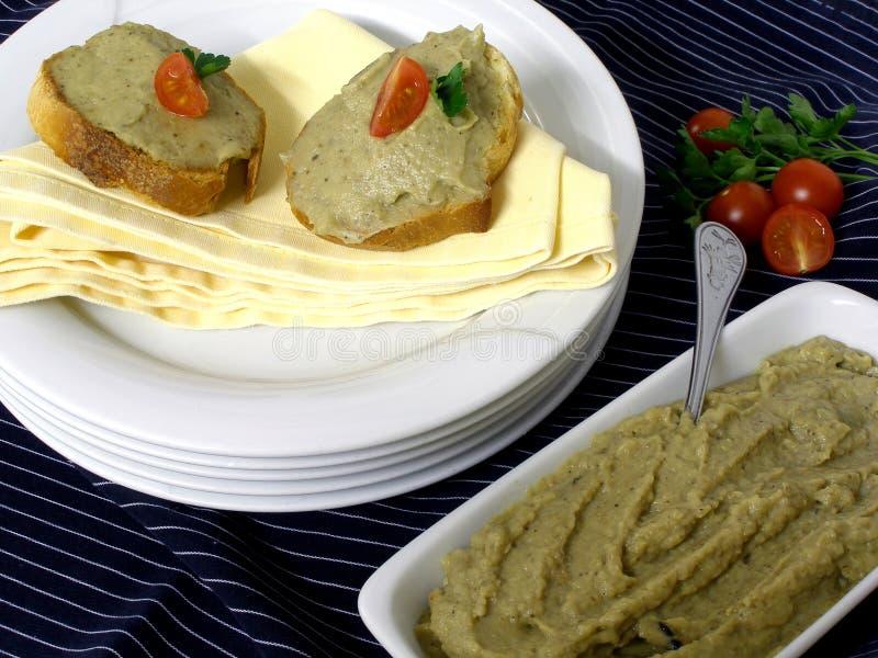 Eggplant caviar stock photo