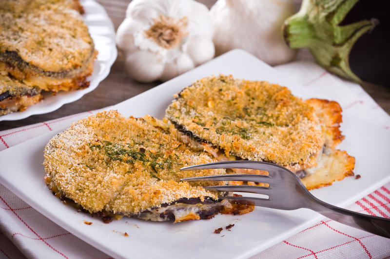Eggplant cutlets. stock photo