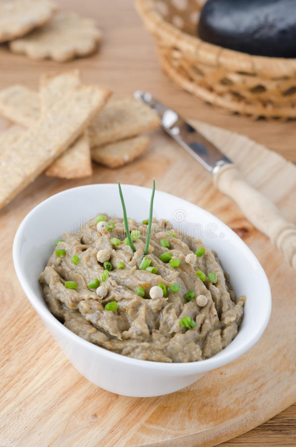 Free Eggplant Dip With Herbs Royalty Free Stock Photography - 27253247