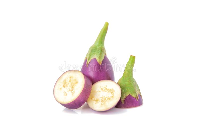 eggplant Fresco ilumine - a beringela roxa isolada fotos de stock