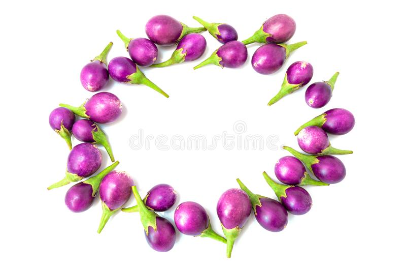 eggplant Fresco ilumine - a beringela roxa isolada fotografia de stock