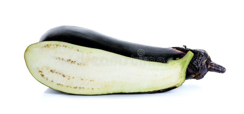 Eggplant isolated on the white background.  stock photos