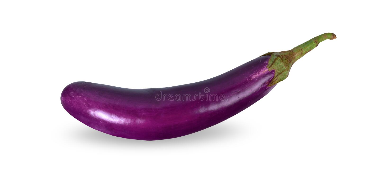 Eggplant on white background. with clipping paths stock image