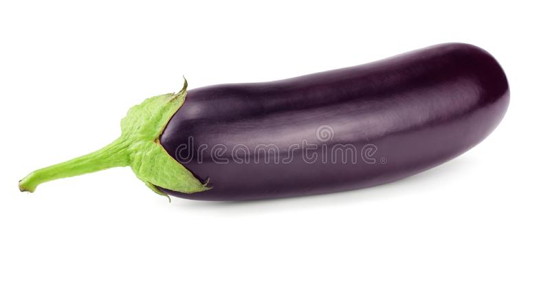 Eggplant isolated on white background. healthy food stock photography