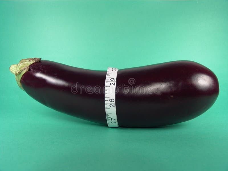 Eggplant Measuring Tape stock photo
