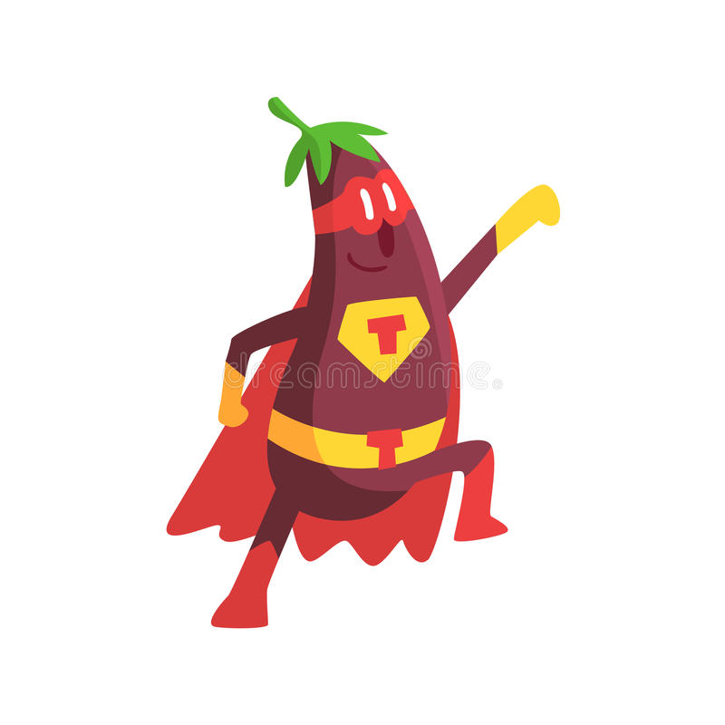 Download Eggplant In Superhero Costume Part Of Vegetables In Fantasy Disguises Series Of Cartoon Silly  sc 1 st  Dreamstime.com & Eggplant In Superhero Costume Part Of Vegetables In Fantasy ...