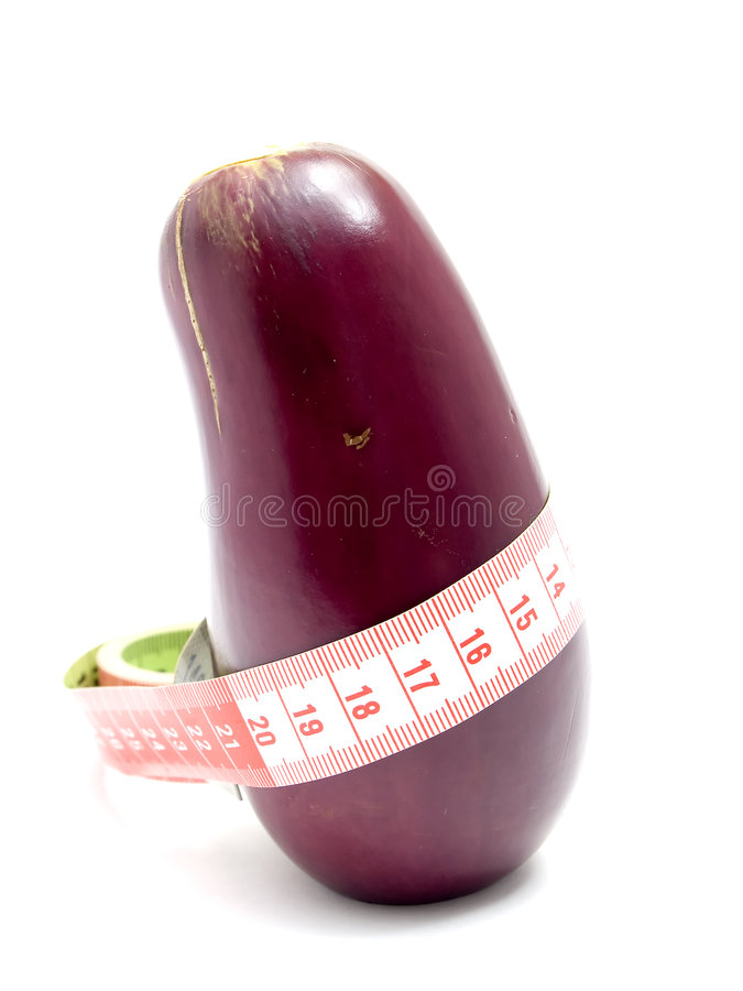 Eggplant with tape royalty free stock image