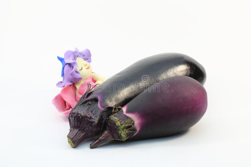 Download Eggplants and doll stock image. Image of white, vegetable - 32519521