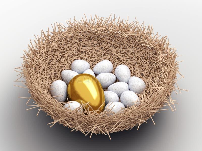 Download Eggs stock illustration. Illustration of gold, prosperity - 14656211