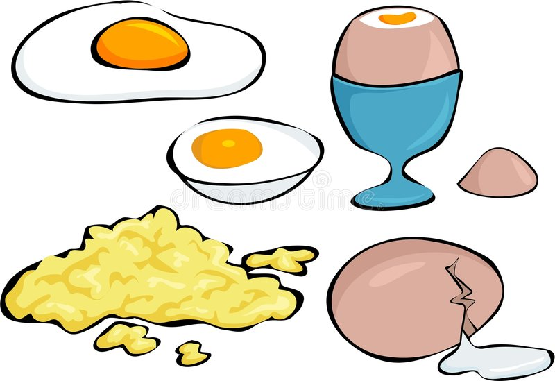 Download Eggs stock illustration. Illustration of edibles, fried - 161001