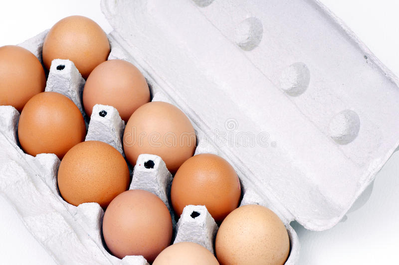 Eggs. Stored in the container royalty free stock photo