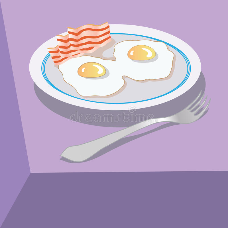 Download Eggs stock vector. Image of fried, yolk, kitchen, food - 28961758