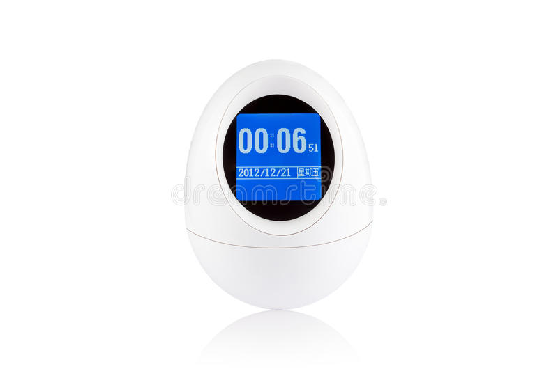 The eggs alarm clock royalty free stock images