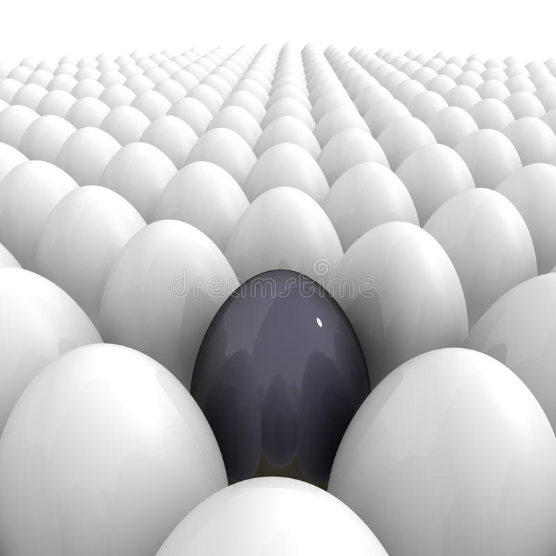 Download Eggs All Over - And A Single Black One Stock Illustration - Image: 13145345