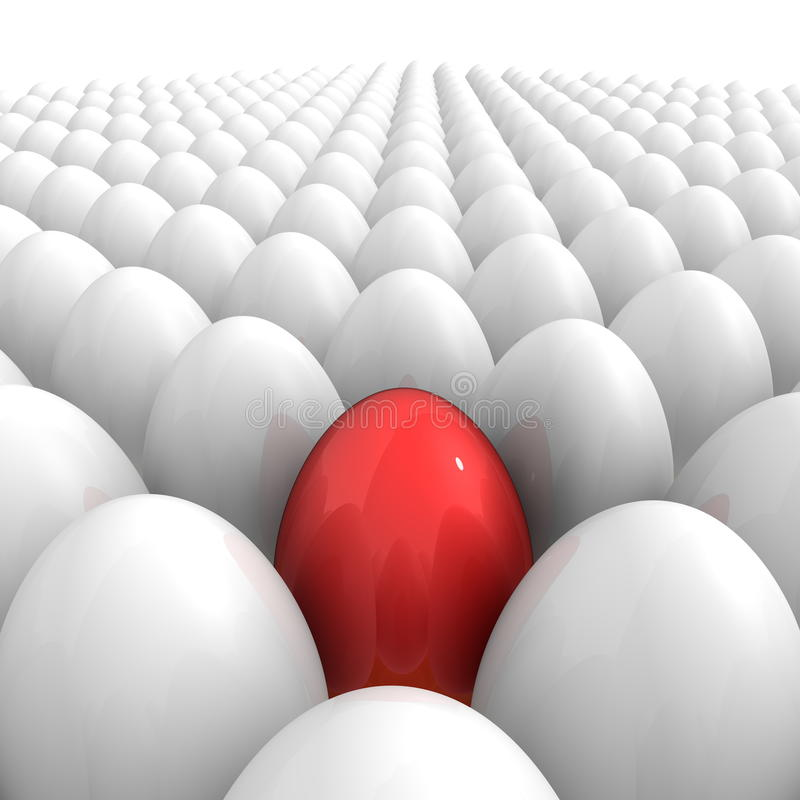 Download Eggs All Over - And A Single Red One Stock Illustration - Image: 12511264