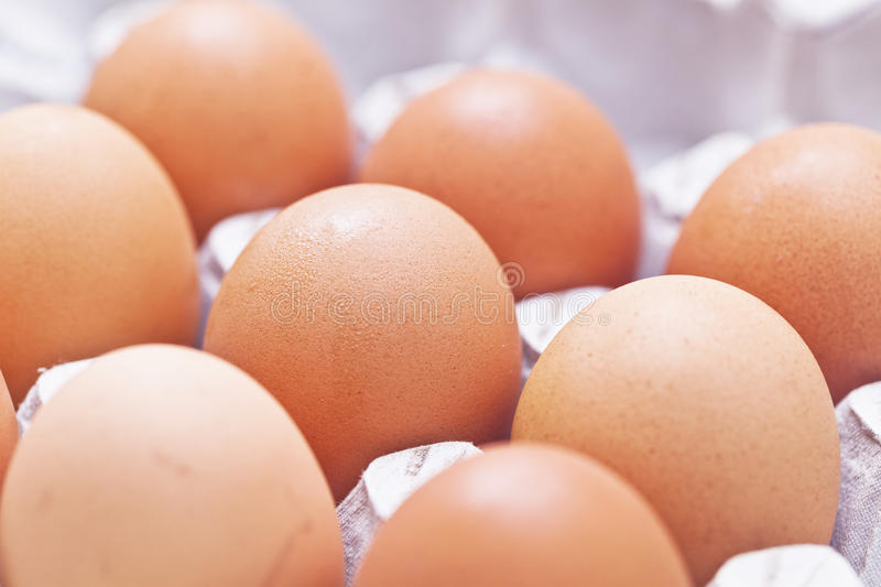 Eggs Arrange In A Box Royalty Free Stock Photo