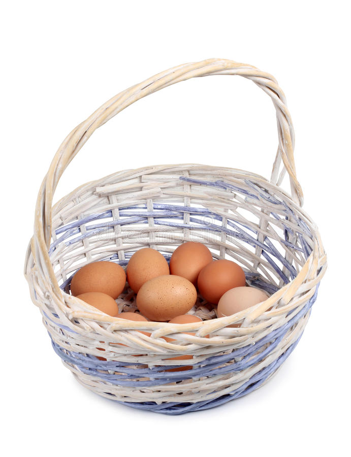 Download Eggs in basket stock image. Image of food, fresh, concept - 23107387