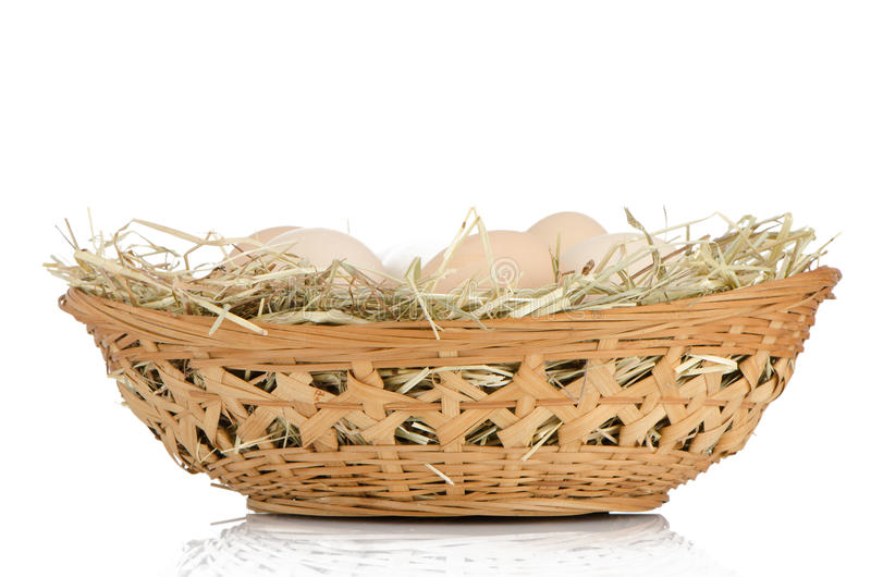 Download Eggs on a basket stock image. Image of copy, freshness - 25986927